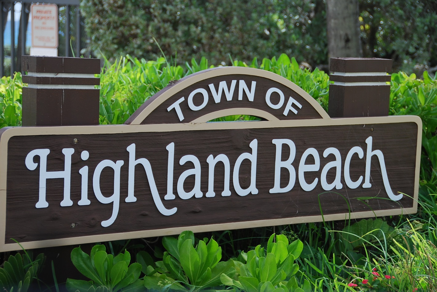 Town of Highland Beach sign